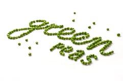 Gröna ärtor Arkivbilder