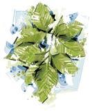 Gröna abstrakta blad Fotografering för Bildbyråer