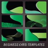 Gröna affärskort Fotografering för Bildbyråer