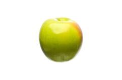 Gröna Apple på vit bakgrund Arkivfoto