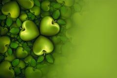 Gröna Apple växter av släktet Trifolium 3D Fotografering för Bildbyråer