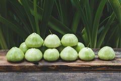 Gröna bergäpplen Arkivfoto