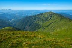 Gröna bergkanter och alpina ängar Royaltyfria Foton