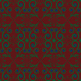 Gröna blått för blommadesignbrunt mönstrar abstraktiondiagram Royaltyfri Bild
