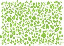 Gröna blad för vektor Arkivbilder