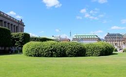 GRÖNA BUSH I PARKERA STOCKHOLM Arkivbild