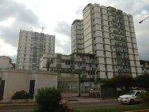 Gröna byggnader arkivbilder