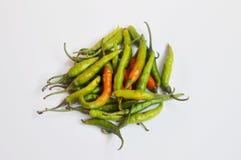 Gröna chilies är matmaterialet som är bra för hälsa royaltyfri foto
