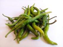 Gröna Chilies Fotografering för Bildbyråer