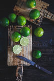 gröna citroner Royaltyfri Bild