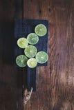gröna citroner Arkivfoton