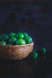 gröna citroner Arkivfoto