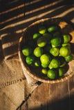 gröna citroner Royaltyfri Fotografi