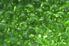 Gröna crystal sfärer Arkivbilder