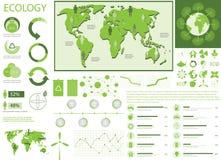 Gröna diagram för ekologi info Fotografering för Bildbyråer