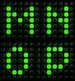 Gröna digitala bokstäver Arkivbilder