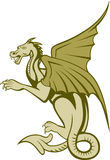 Gröna Dragon Full Body Cartoon Royaltyfri Bild