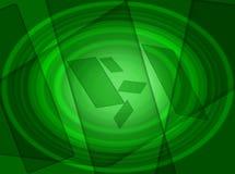 Gröna effekter för tappningbakgrundssuddighet vektor illustrationer