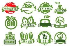 Gröna emblem av ecoen Arkivfoto