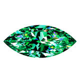 Gröna Emerald Marquise Royaltyfria Foton