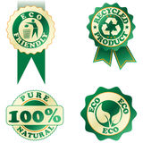 gröna etiketter Royaltyfri Bild