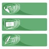 gröna etiketter för data Arkivfoto