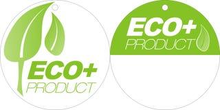 gröna etiketter för eco royaltyfria foton