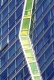 gröna fönster Arkivfoton