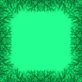 Gröna filialer på en grön bakgrund vektor illustrationer