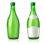 Gröna flaskor Royaltyfri Foto