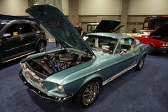 Gröna Ford Mutang Fastback Arkivfoto