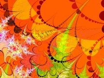 gröna former för orange red Arkivbild