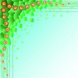gröna fyrkanter för abstraktion Fotografering för Bildbyråer