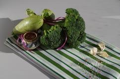 gröna grönsaker Fotografering för Bildbyråer