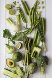 gröna grönsaker för frukter arkivbilder