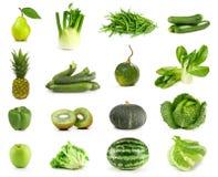 gröna grönsaker för frukter arkivbild