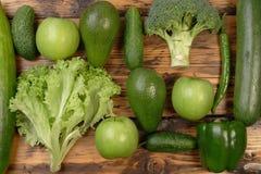 Gröna grönsaker och frukter Arkivbilder