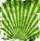 gröna grungesunbeams Royaltyfri Fotografi