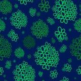 Gröna grupper av blommor Arkivfoto