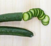 Gröna gurkor royaltyfria bilder