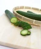 Gröna gurkor arkivfoton