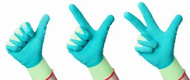 gröna händer Royaltyfri Bild