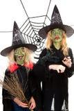gröna halloween läskiga häxor Royaltyfri Foto