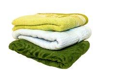 gröna handdukar Arkivfoto