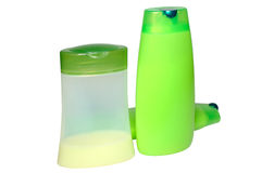 gröna hygienprodukter tre för skönhet Arkivbild