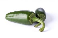 gröna jalapenopeppar arkivfoton