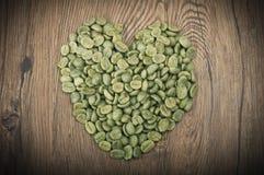 Gröna kaffebönor arkivfoto