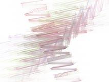 Gröna kaotiska penseldrag för rosa färger i en abstrakt fractal Arkivfoto