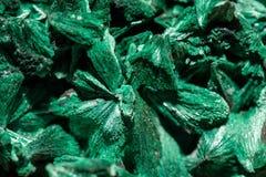 Gröna kristaller av malachite Royaltyfri Foto