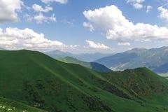 gröna kullar Arkivfoto